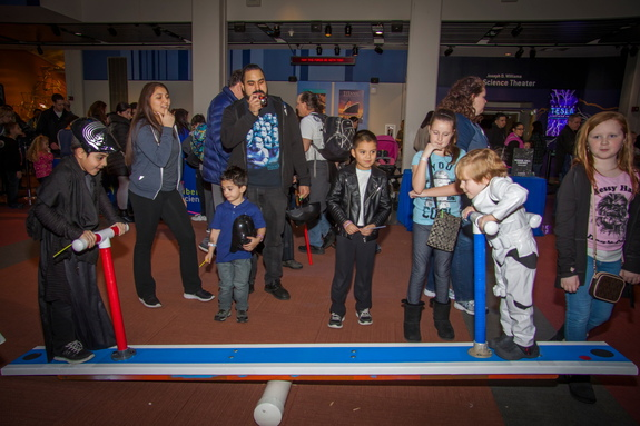 "Liberty Science Center visitors bring balance to the Force at ""Science, Sabers & Star Wars."""