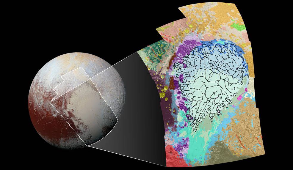 Map of Pluto's heart shaped future