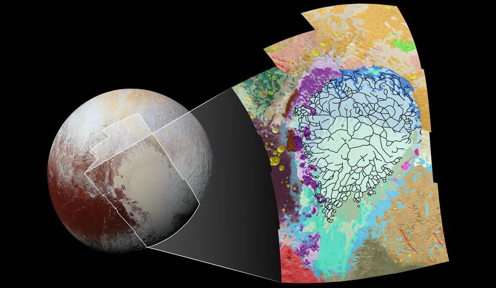 NASA Maps Geology of Pluto's 'Heart'