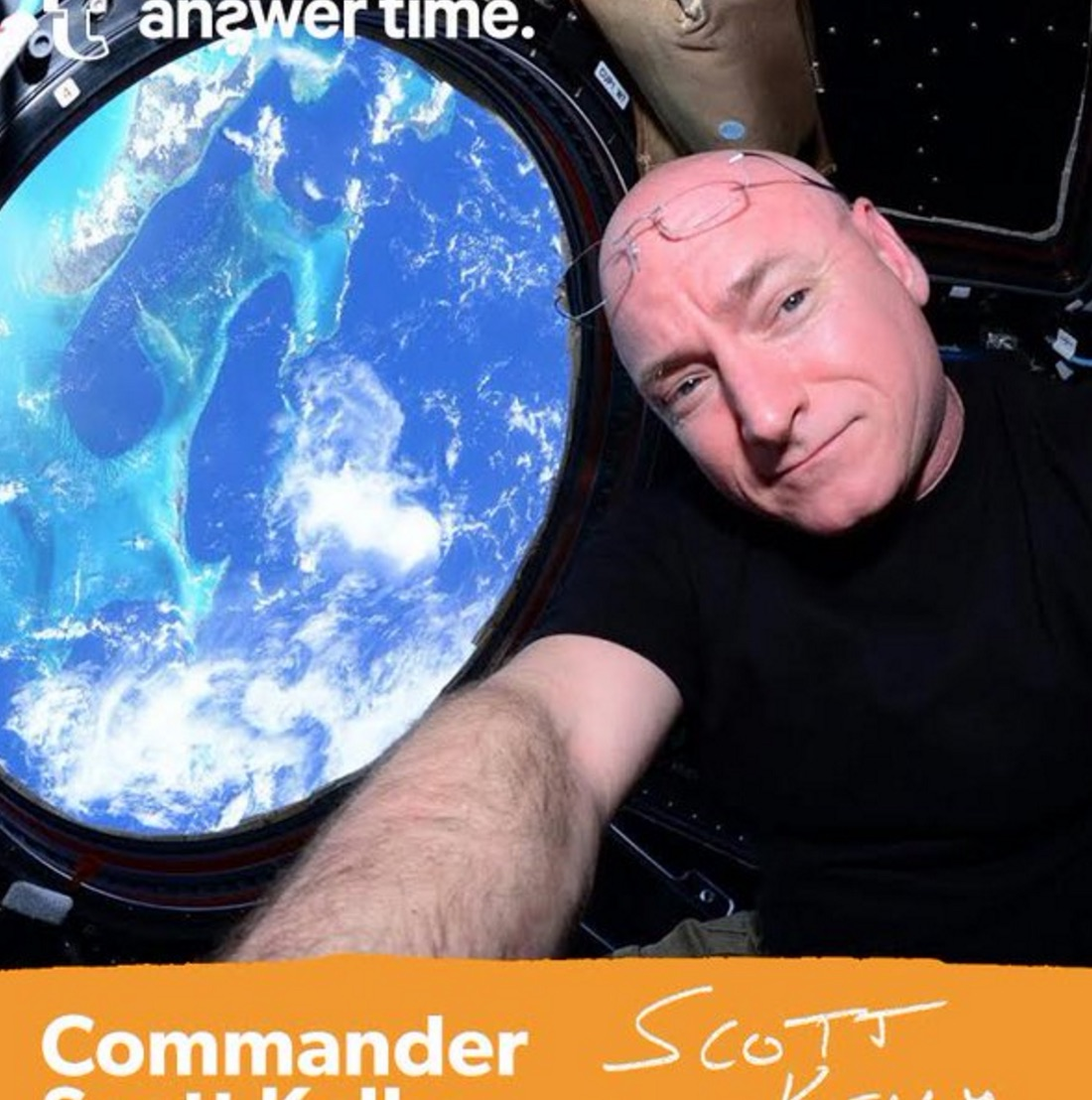 Scott Kelly on Day 321 on ISS