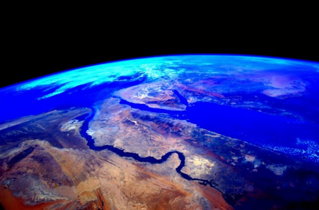 Egypt from ISS by Astronaut Scott Kelly