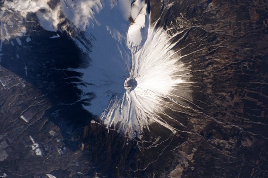 Mount Fuji by Astronaut Scott Kelly