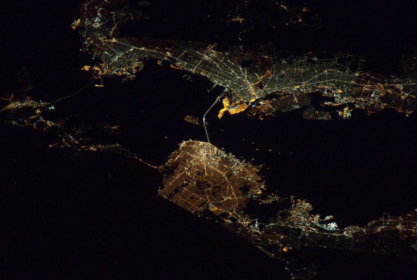San Francisco from ISS by Astronaut Scott Kelly