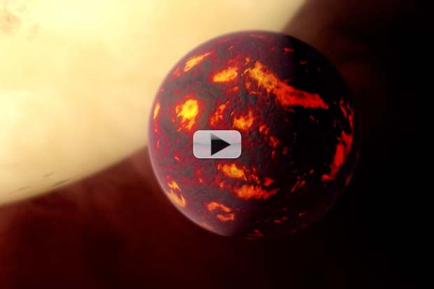 'Super-Earth' Atmosphere Detected For First Time | Artist Animation