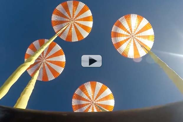 SpaceX Crew Dragon Parachutes Tested Successfully | Video