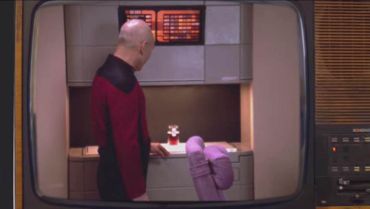 Captain Picard and Food Replicator