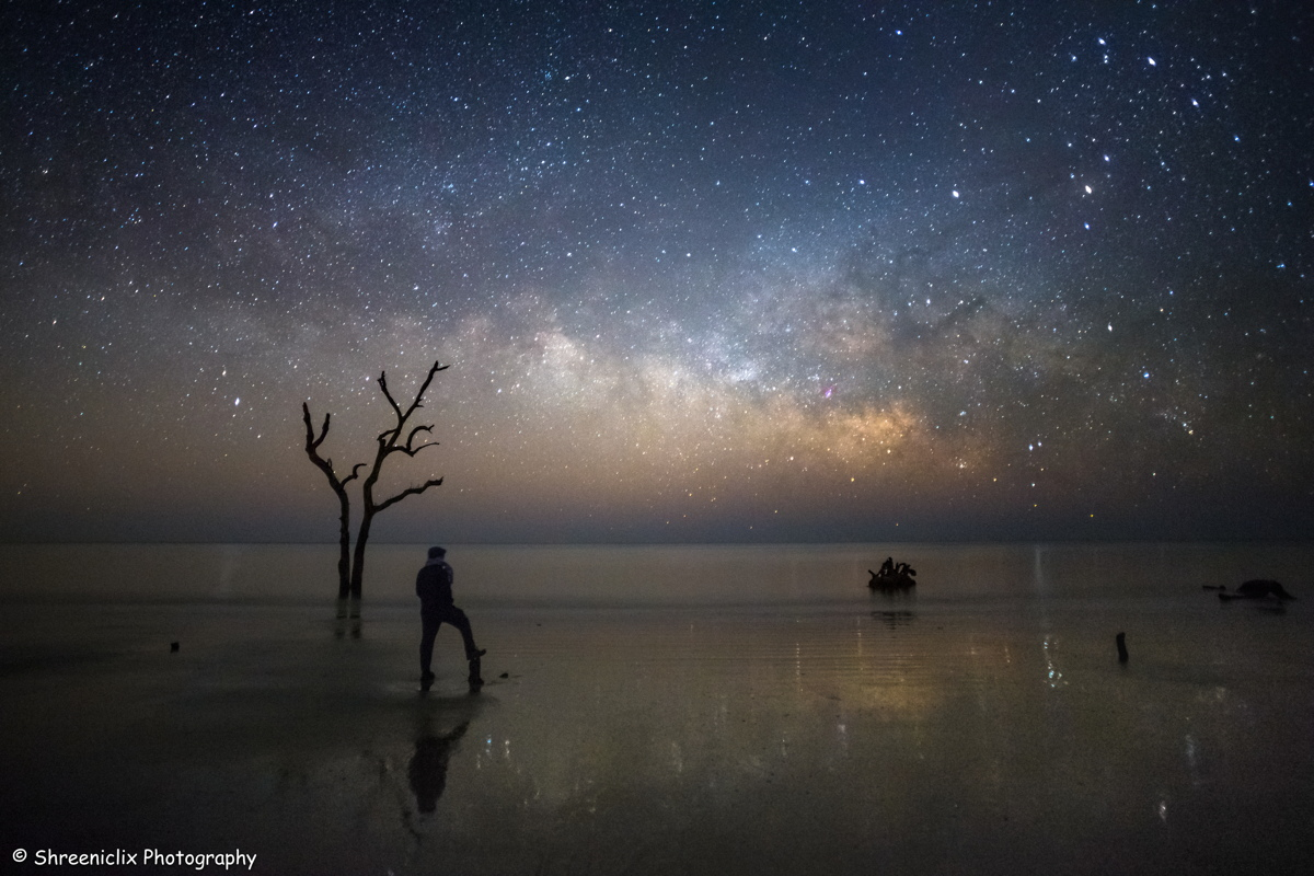 Milky Way at Hunting Island State Park