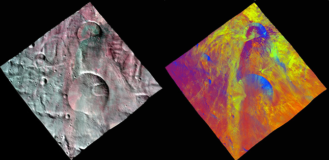 Fresh Impact Craters on Vesta