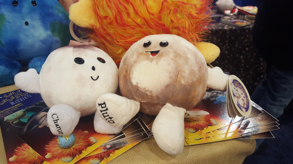 """Best buds Pluto and Charon are as adorable here as in the solar system's far reaches. <a href=""""http://celestialbuddies.com/shop/pluto/ """" rel=""""nofollow"""" target=""""_blank"""">Buy Celestial Buddies Pluto and Charon.</a>"""