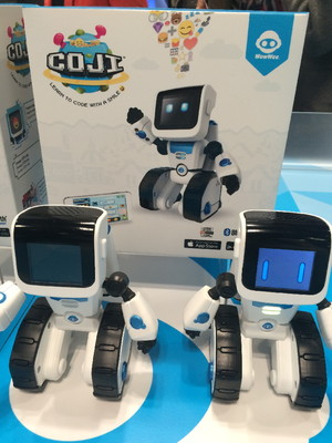 The Coji bot combines coding and emojis, to teach young kids the basics of computer coding.