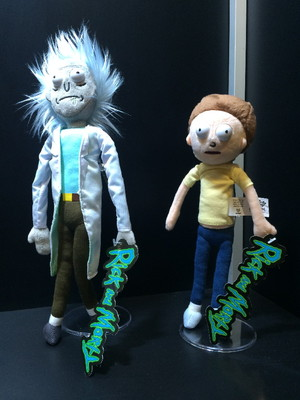 "Plush dolls from the out-of-control science fiction cartoon show ""Rick and Morty"" are available from Jinx, with more characters being released this year."