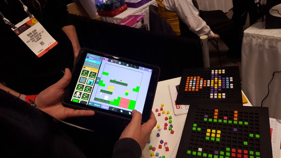 Bloxels let users build their own video games, using colored blocks and a tablet app.