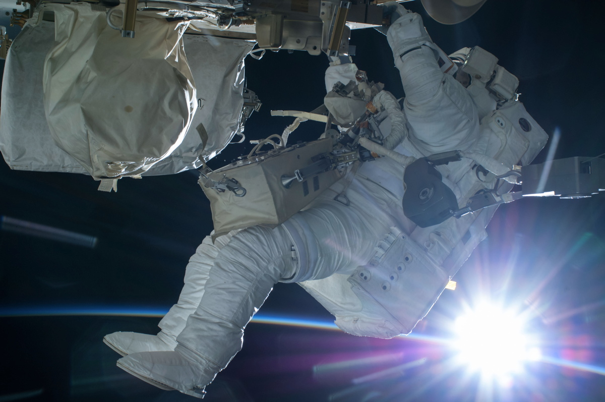 Terry Virts Spacewalk