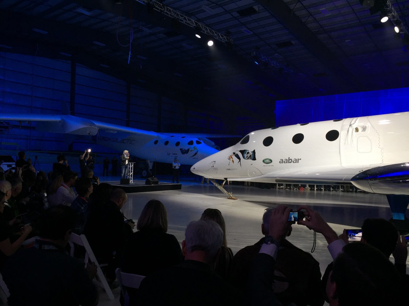 Richard Branson Speaks at SpaceShipTwo Unveiling