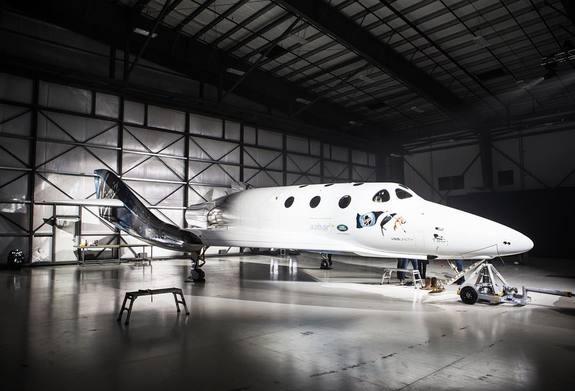 Virgin Galactic rolled out its new SpaceShipTwo on February 19, 2016, at the Mojave Air and Space Port.
