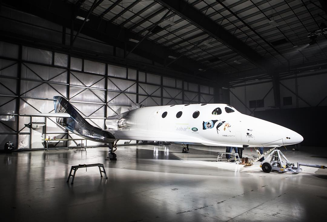Virgin Galactic's SpaceShipTwo VSS Unity Spaceliner in Pictures
