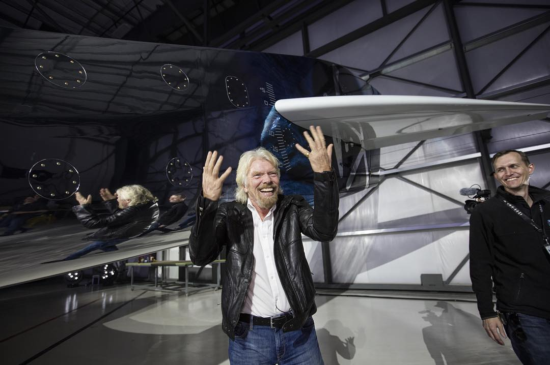 Richard Branson's Reaction to New Spaceshiptwo