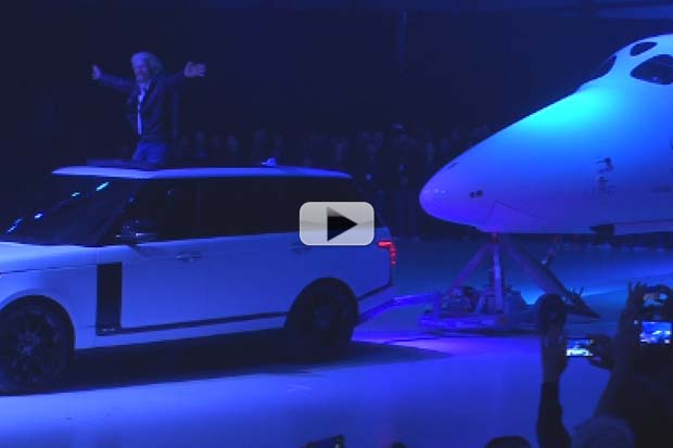 Sir Richard Branson Rolls Out New SpaceShipTwo 'Unity' | Raw Video