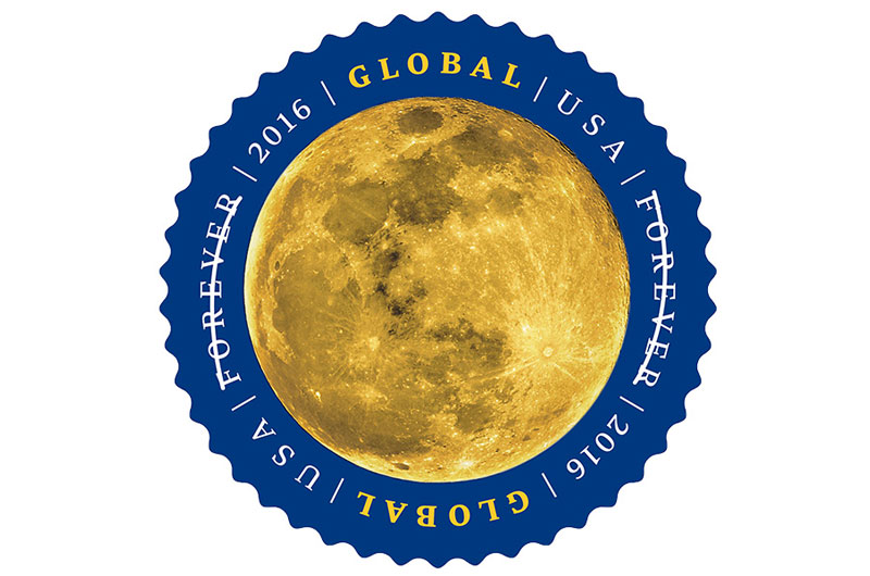 Moon Mail: Earth's Moon Rises on New US Postage Stamp