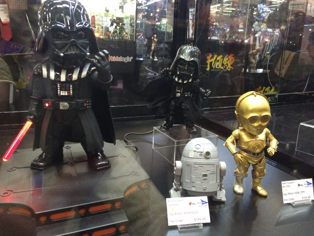 Darth Vader, R2-D2 and C-3PO Egg Attack Action Figures
