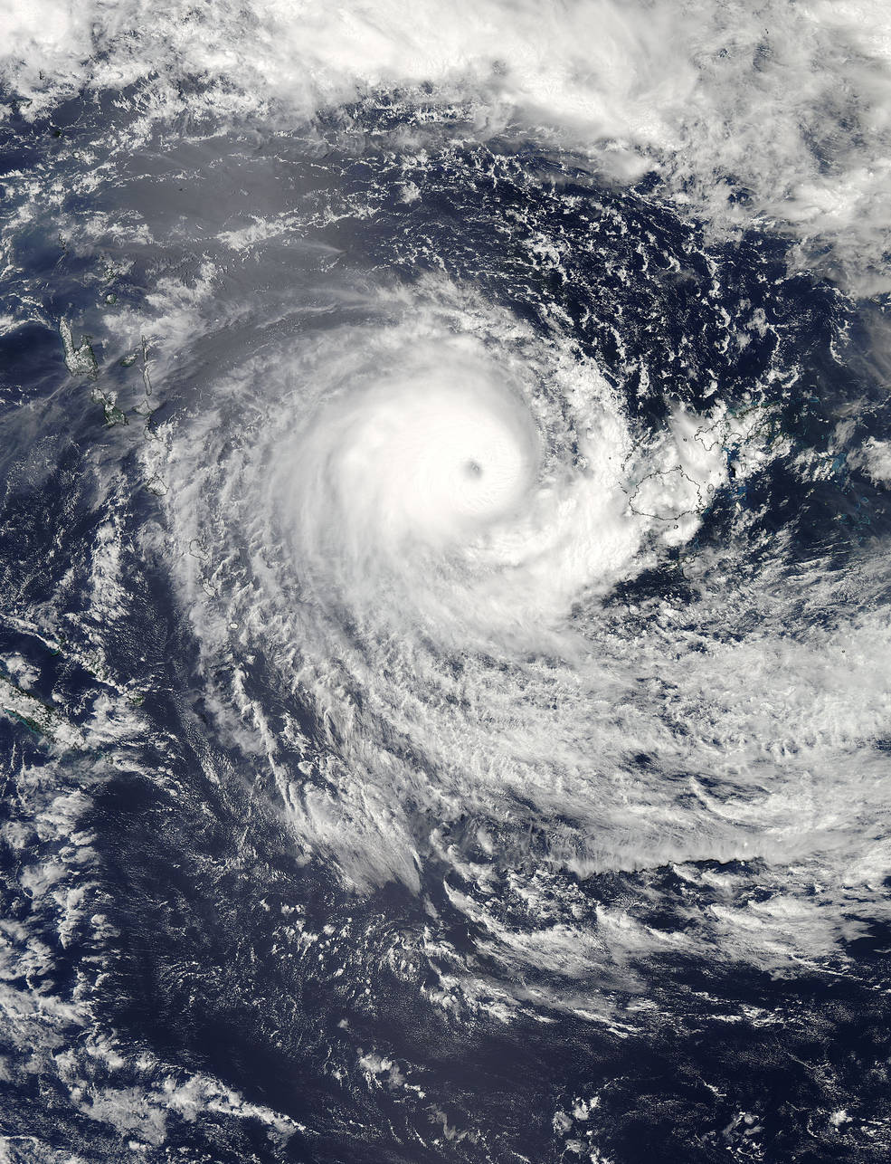 Monster Cyclone Winston Seen from Space