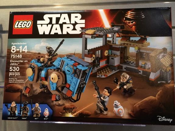 "One of the new ""Star Wars"" Lego sets featuring BB-8."