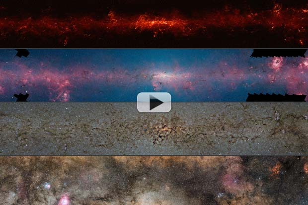 Central Milky Way Features Hiding In Plain Sight - Multiple Wavelengths | Video