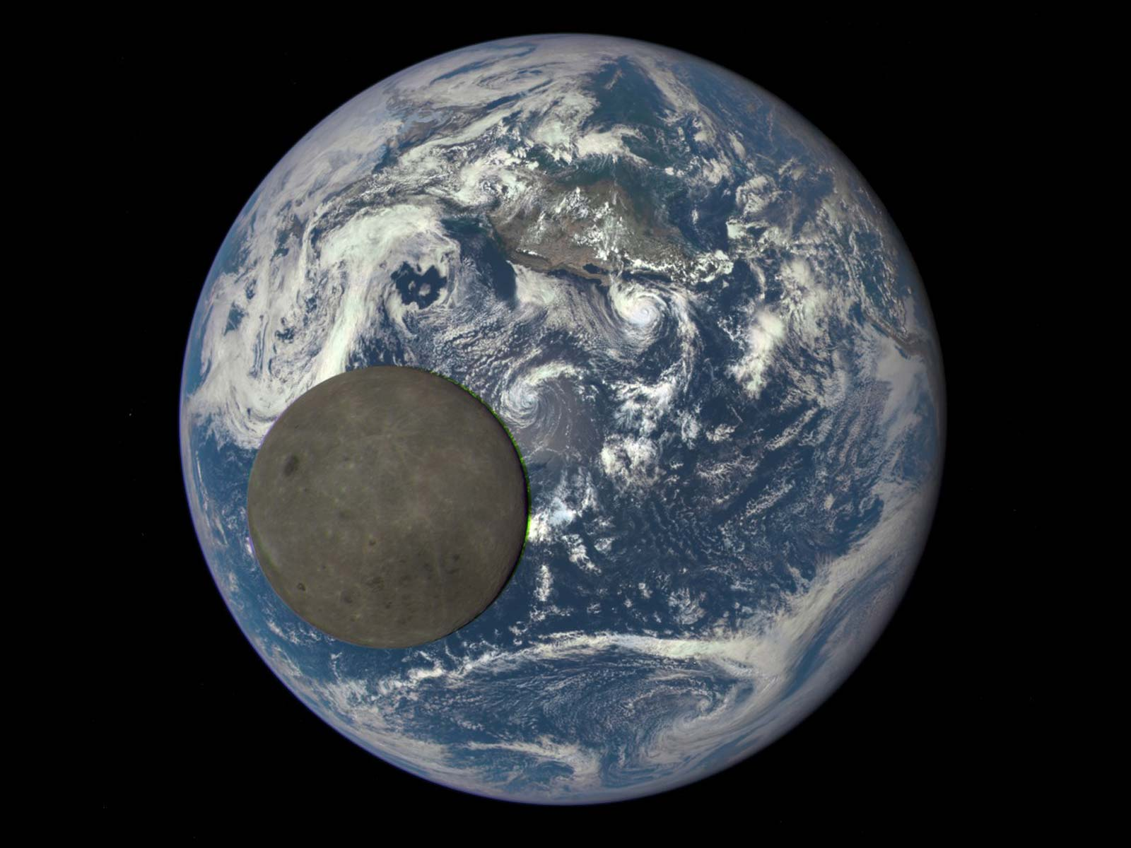 Our Blue Marble and Its Natural Satellite | Space Wallpaper