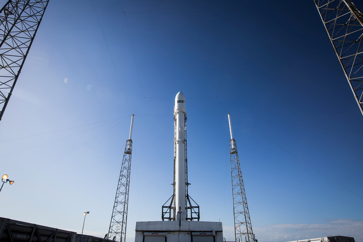 SES-9 Satellite on Launch Pad