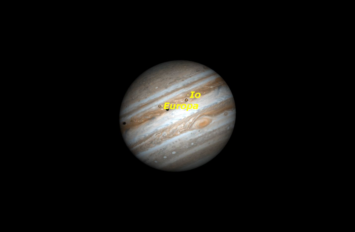 Double shadow transit on Jupiter, March 29, 2016