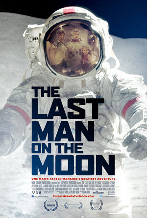 """Movie poster for the new documentary """"The Last Man on the Moon,"""" opening Feb. 26, 2016."""
