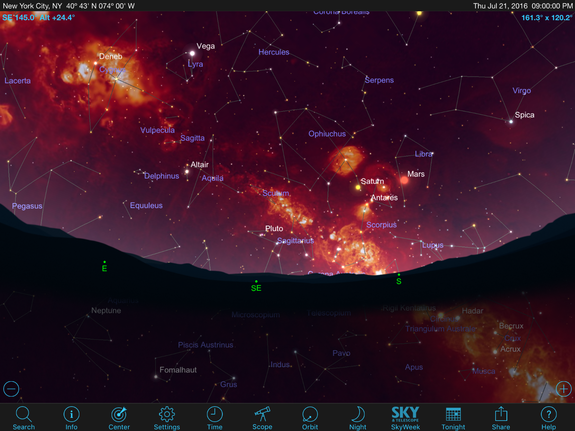 Feature-rich apps allow the Milky Way to be shown as it would appear in other wavelengths of the electromagnetic spectrum, allowing you to view the sky with new eyes.