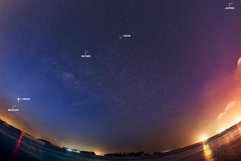 Wow! Rare Planetary Alignment Adorns Night Sky Over Singapore