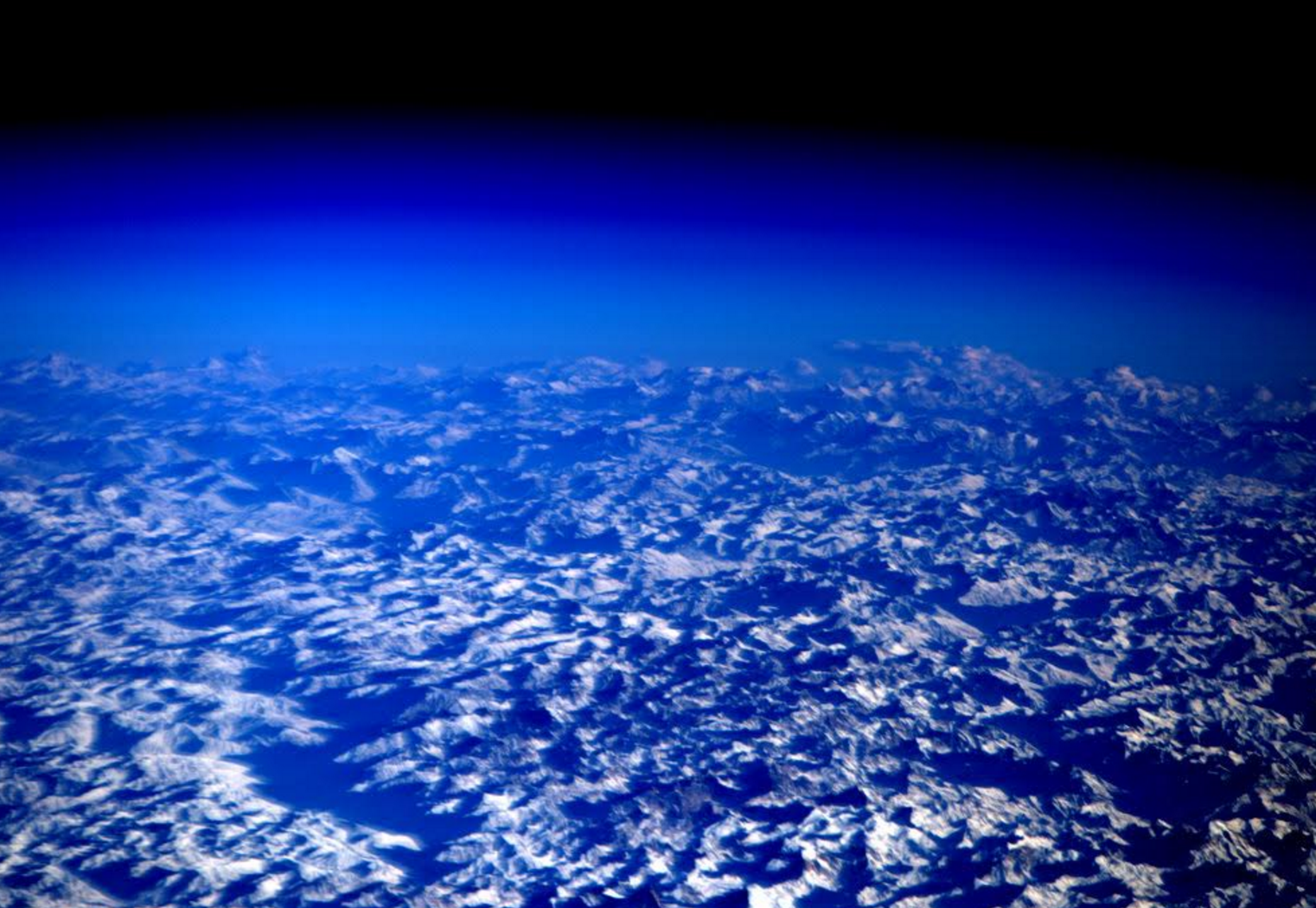 Himalayas from ISS by NASA Astronaut Scott Kelly