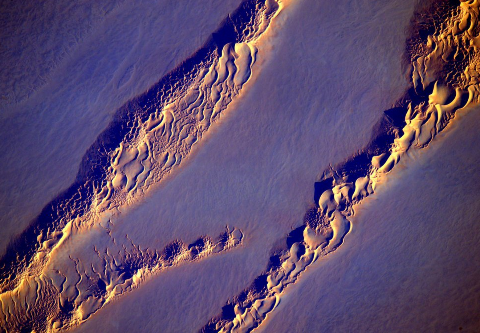 Desert Dunes from ISS by Scott Kelly