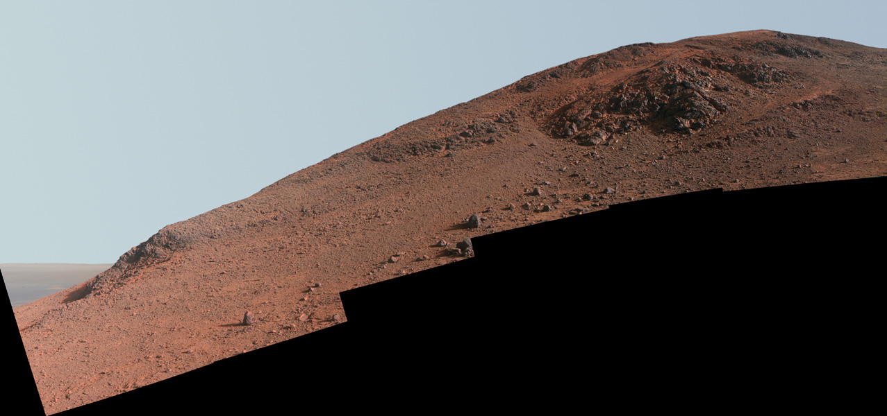 Mars Rover Opportunity Climbs Red Planet Ridge (Photo)