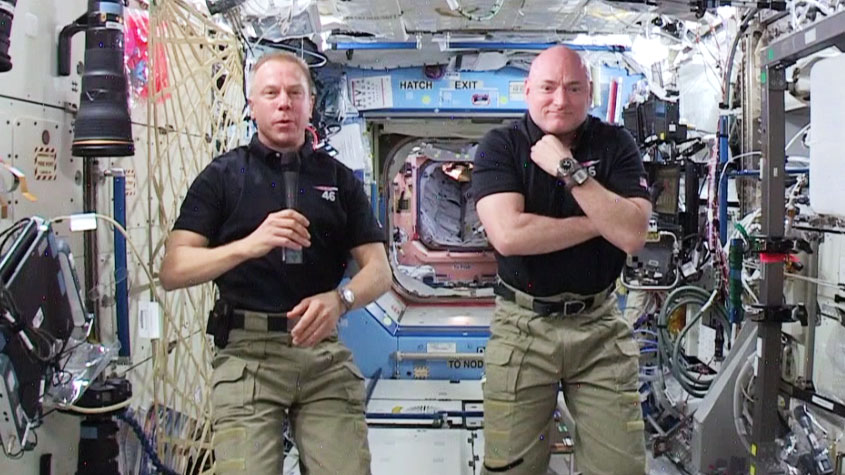 Scott Kelly in Space Back to Earth