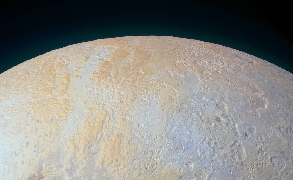 Pluto's North Pole Carved Up by Long Canyons (Photo)