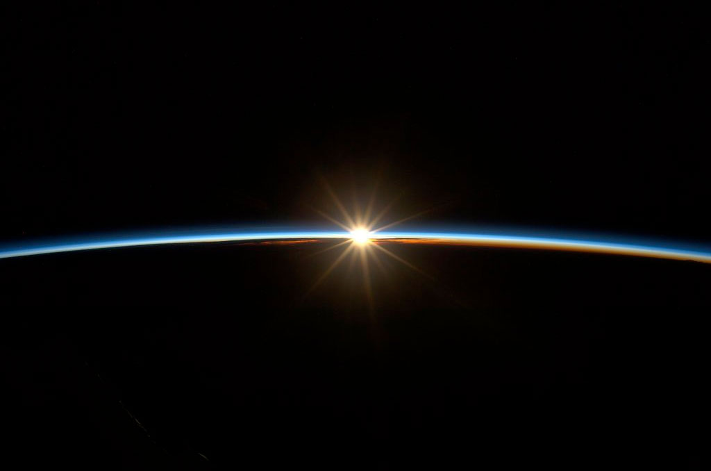 Orbital Sunrise, Feb. 29, 2016