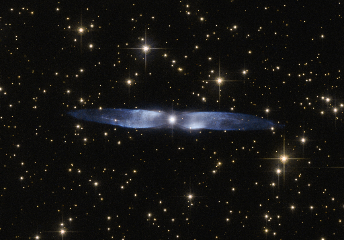 'Hen's Wings' Glow Blue in Enchanting Hubble Telescope Image
