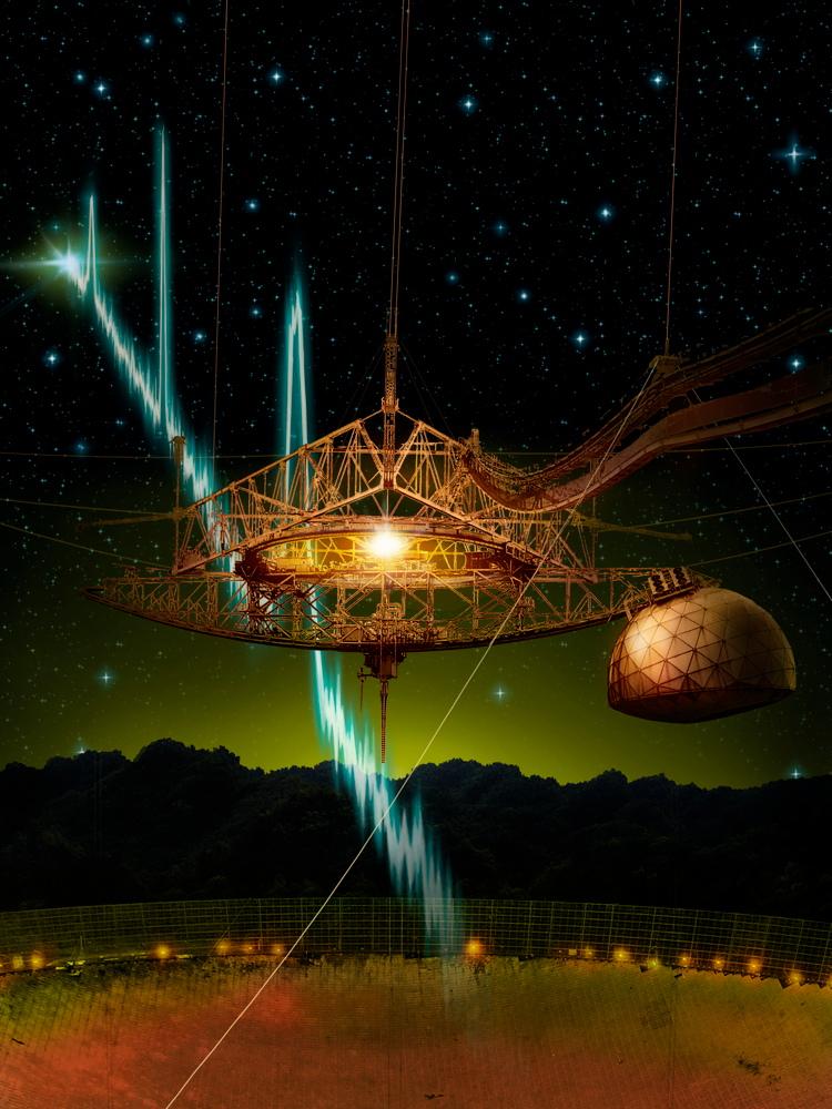 Arecibo Telescope and Fast Radio Bursts