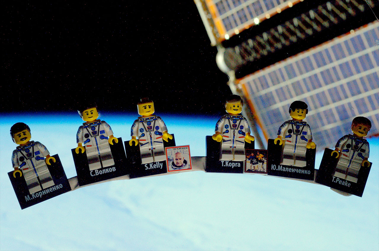 British Astronaut Reveals LEGO Minifigures of His Space Station Crew