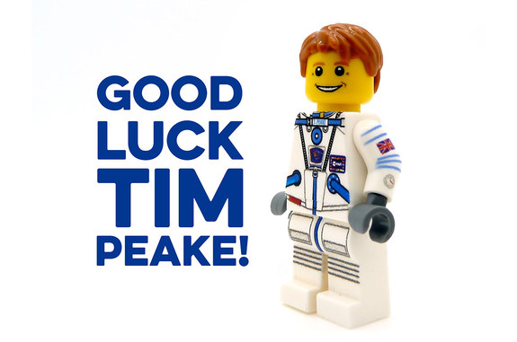 Minifigs.me's Tim Peake custom LEGO minifigure.