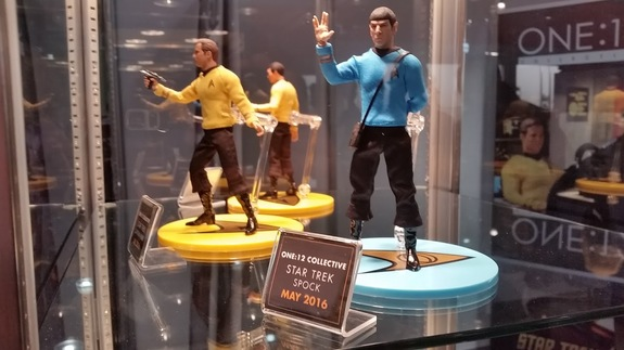 "New ""Star Trek"" figures from One:12 Collective, part of Mezcotoyz."