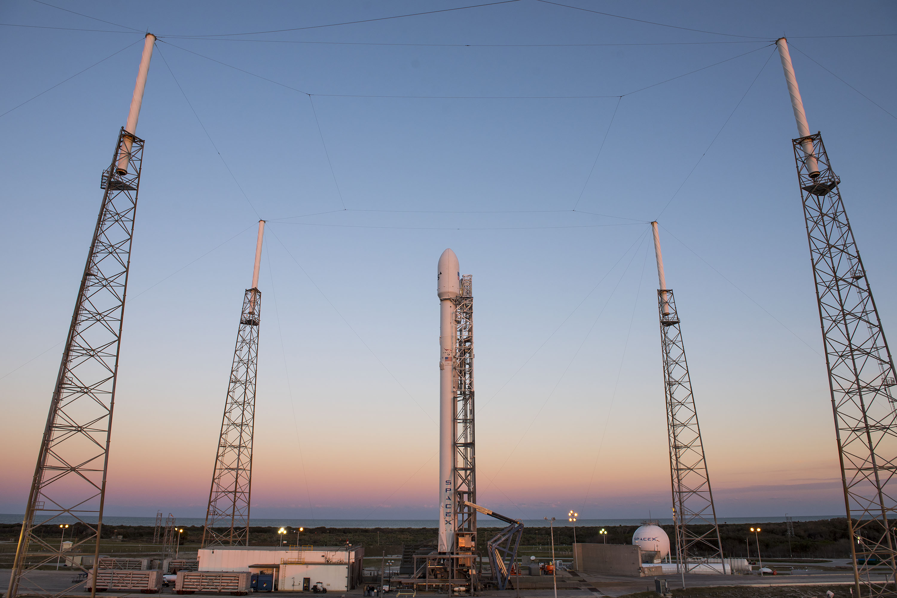 SpaceX Will Try Again to Launch Satellite and Land a Rocket Today