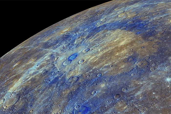 Enhanced image of Mercury