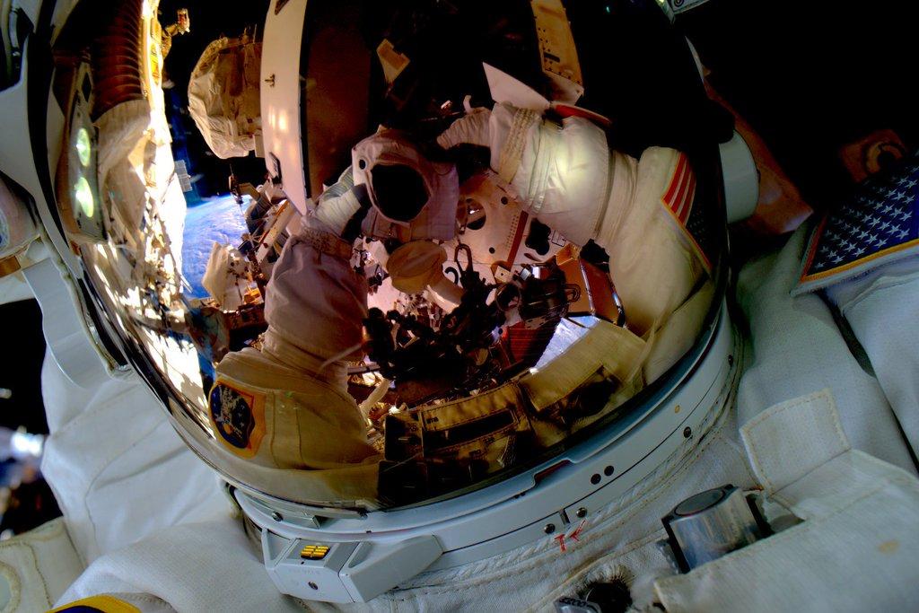 Scott Kelly Spacewalk Selfie