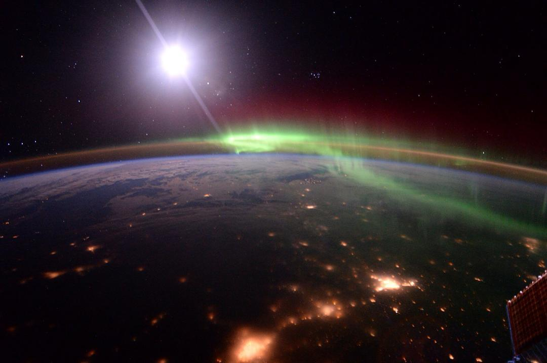 Aurora Viewed from the International Space Station
