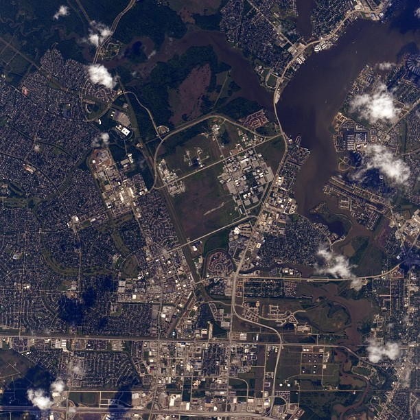 Johnson Space Center as Seen from Space