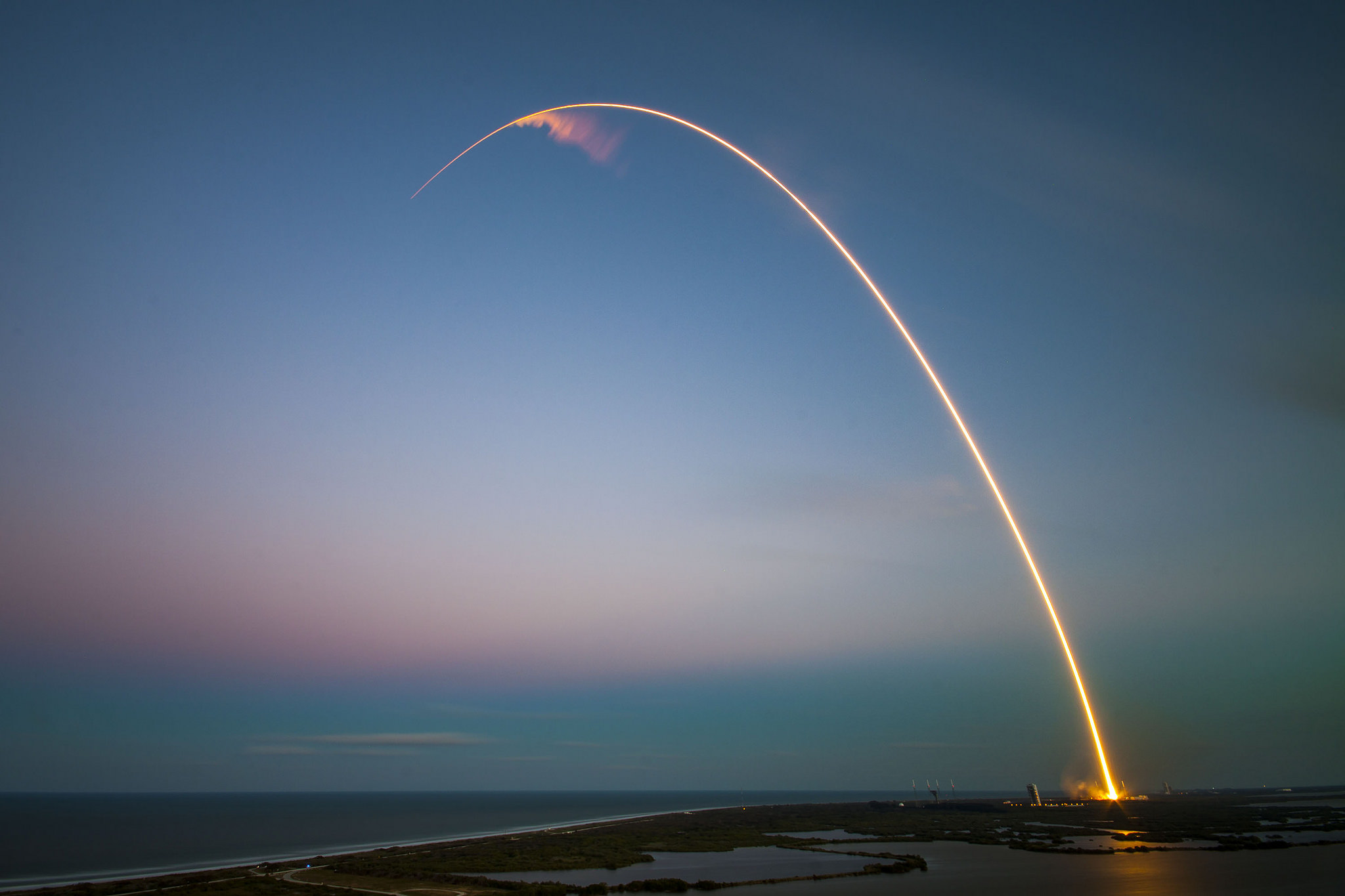 SES-9 SpaceX Launch From Above
